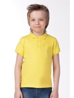 Футболка-поло Vilatte. Цвет: желтый