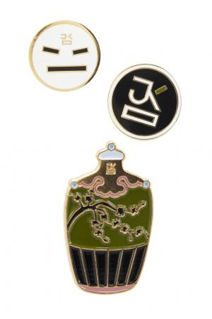 Комплект значков J.Kim. Цвет: multicolor