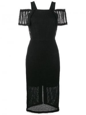 Платье с приспущенными плечами Sinclair Roland Mouret. Цвет: чёрный