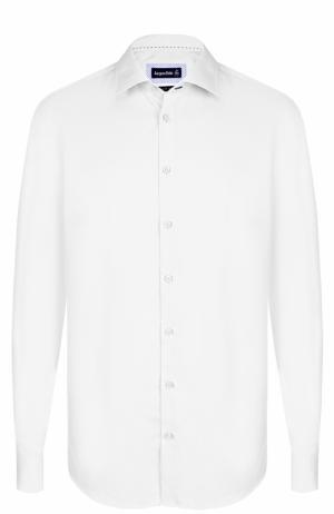 Хлопковая сорочка с воротником кент Jacques Britt. Цвет: белый