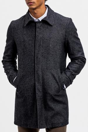 Пальто DIBYE. Цвет: серый