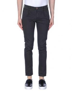 Повседневные брюки 0/ZERO CONSTRUCTION. Цвет: стальной серый