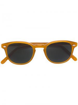Солнцезащитные очки  711 Lesca. Цвет: жёлтый и оранжевый