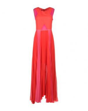 Длинное платье TENAX. Цвет: коралловый