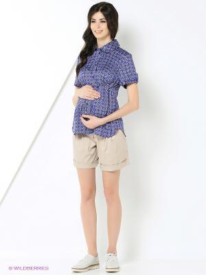 Блуза UNIOSTAR. Цвет: синий, серый, черный