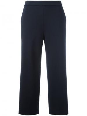 Укороченные брюки Akris. Цвет: синий