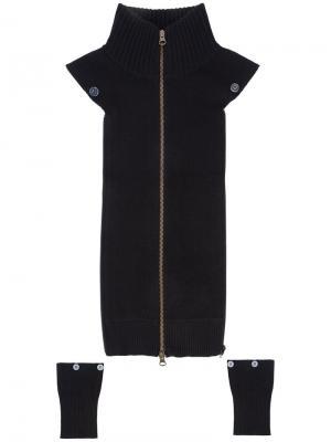 Манишка с манжетами Veronica Beard. Цвет: чёрный