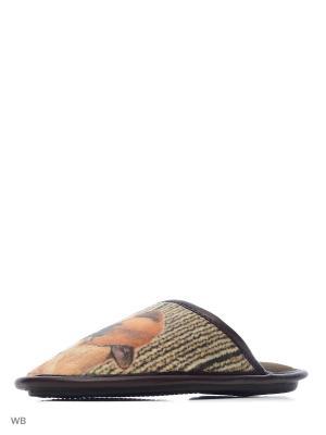 Тапочки BRIS. Цвет: коричневый
