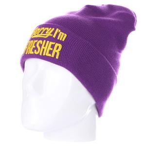 Шапка  Sorry Beanies Purple/Yellow TrueSpin. Цвет: фиолетовый