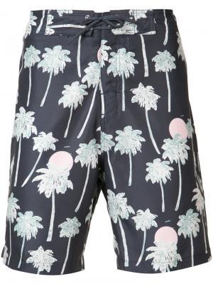 Плавательные шорты Zander Hawaii Wesc. Цвет: чёрный
