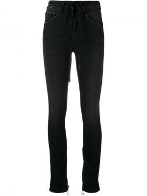 Облегающие брюки с завышенной талией Off-White. Цвет: чёрный