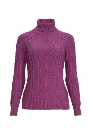 Джемпер из шерсти с шелком 136700 Sweet Sweaters. Цвет: фиолетовый