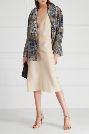 Атласное платье VIKTORIA IRBAIEVA. Цвет: бежевый
