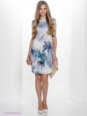Платье Henry Cotton's. Цвет: зеленый, серо-голубой