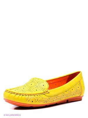Мокасины Wilmar. Цвет: желтый