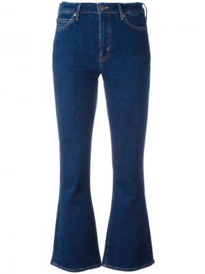 Укороченные расклешенные джинсы Mih Jeans. Цвет: синий