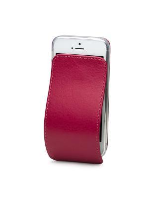 Чехол для iPhone 5/5s/SE Robert Теленок Marcel. Цвет: темно-бордовый, бордовый, малиновый