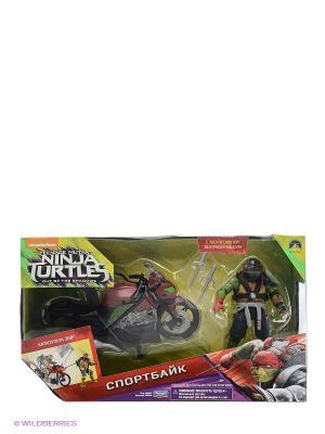 Мотоцикл с фигуркой Рафа, серия Movie Line 2016 Playmates toys. Цвет: красный