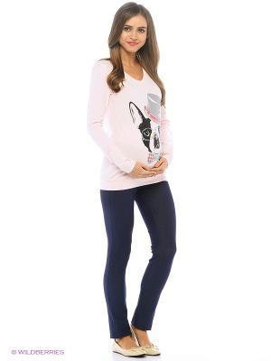 Брюки джинса для беременных Nuova Vita. Цвет: темно-синий