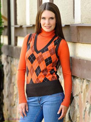 Жилет Vis-a-vis. Цвет: коричневый, оранжевый