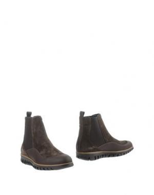 Полусапоги и высокие ботинки ZERO_571. Цвет: темно-коричневый