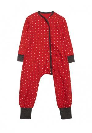 Пижама Bambinizon. Цвет: красный