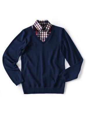 Пуловер I love to dream. Цвет: красный, синий