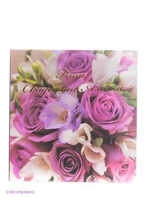 Фотокнига в коробке Wedding story VELD-CO. Цвет: фиолетовый