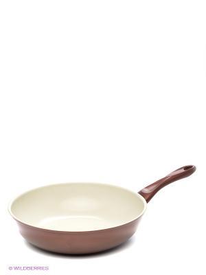 Сковорода BOK, 30 см Winner. Цвет: коричневый