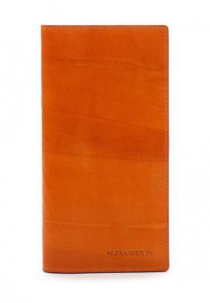 Портмоне Alexander Tsiselsky. Цвет: оранжевый