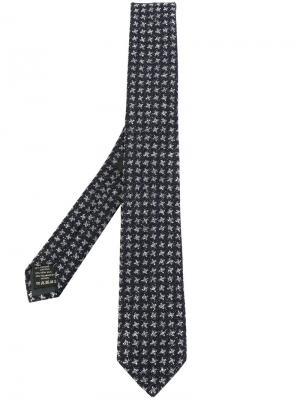 Трикотажный галстук Z Zegna. Цвет: синий
