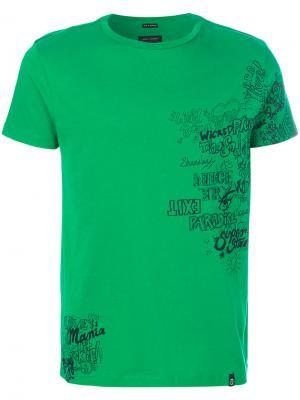 Футболка с графическим принтом Marc Jacobs. Цвет: зелёный