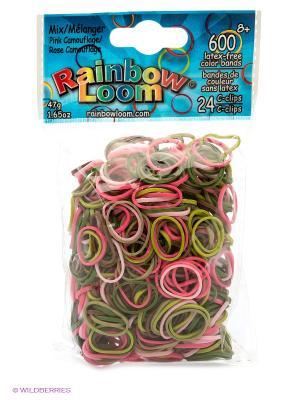 Резиночки Розовый камуфляж RAINBOWLOOM. Цвет: зеленый