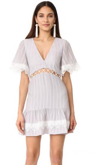 Платье Breeze Day Talulah. Цвет: пыльный голубой