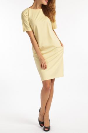 Платье TOK. Цвет: желтый
