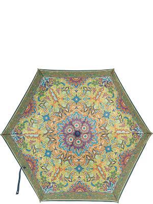 Зонт Labbra. Цвет: темно-зеленый, зеленый, рыжий