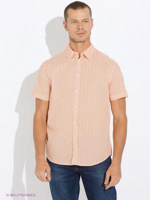 Рубашка INCITY. Цвет: белый, оранжевый