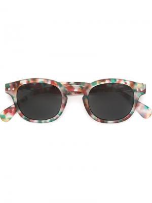 Солнцезащитные очки в круглой оправе See Concept. Цвет: зелёный