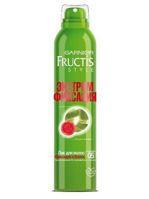 Лак для волос Fructis Style, Фиксация и блеск, 250 мл Garnier. Цвет: зеленый