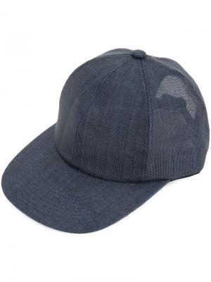 Полупрозрачная кепка Kijima Takayuki. Цвет: синий
