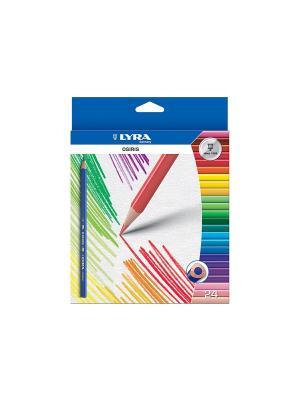 Lyra osiris24 цв. цветные лакированные карандаши, треугольное сечение.. Цвет: синий, зеленый, желтый