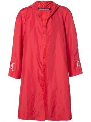 Ветровка с капюшоном A-Cold-Wall*. Цвет: красный