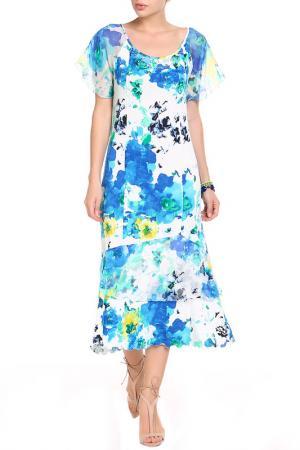 Платье Elisa Fanti. Цвет: голубой