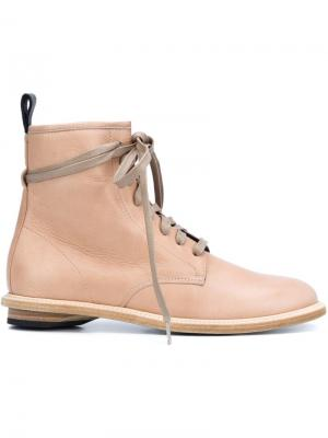 Ботинки на шнуровке Valas. Цвет: телесный