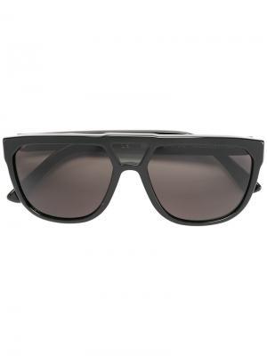 Солнцезащитные очки в квадратной оправе Wesc. Цвет: чёрный
