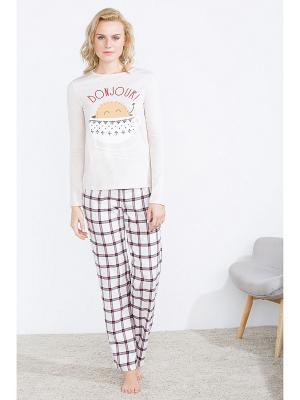 Пижама Women' Secret. Цвет: молочный