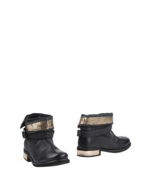 Полусапоги и высокие ботинки AMUST. Цвет: черный