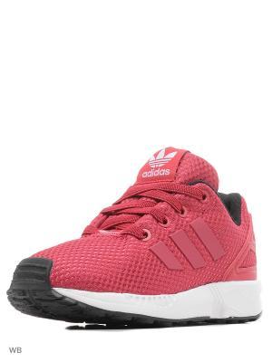 Кроссовки дет. спорт. ZX FLUX EL I  UNIPNK/UNIPNK/FTWWHT Adidas. Цвет: бордовый
