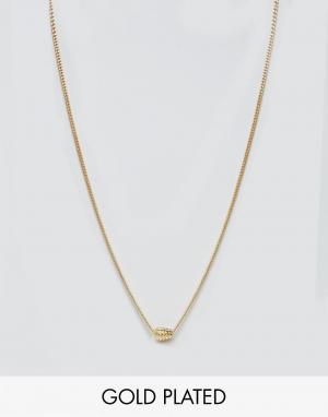 Love Bullets Позолоченное ожерелье с подвеской-гранатой Lovebullets. Цвет: золотой