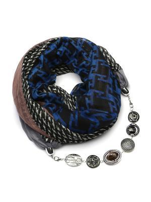 Шарф с ожерельем FOXTROT. Цвет: темно-коричневый